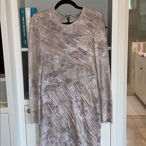 Grey long sleeve mini dress
